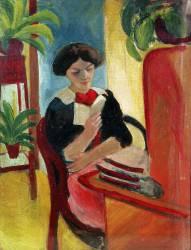 Elizabeth reading (August Macke) - Muzeo.com