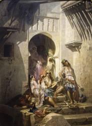Femmes d'Alger (Eugène Giraud) - Muzeo.com