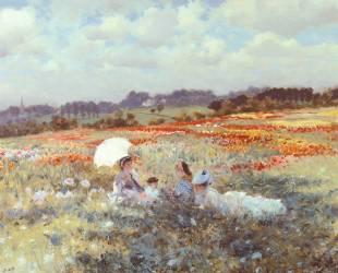 Fields near London (Giuseppe de Nittis) - Muzeo.com