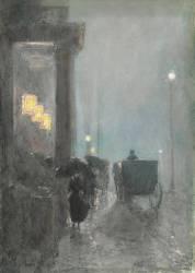Fifth Avenue, Evening (Hassam Childe) - Muzeo.com