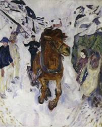 Galloping horse (Munch Edvard) - Muzeo.com