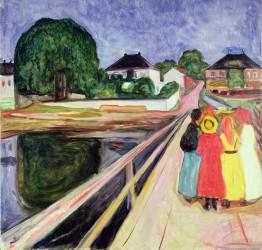 Girls on a Bridge (Munch Edvard) - Muzeo.com