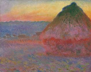 Haystacks, Pink and Blue Impressions (Monet Claude) - Muzeo.com