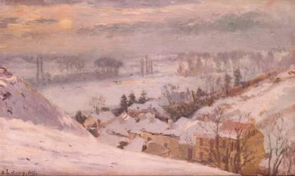 Herblay sous la neige (Albert Lebourg) - Muzeo.com