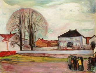 House in Aasgaardstrand (Munch Edvard) - Muzeo.com