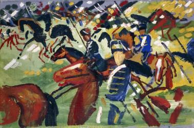 Hussars setting out (August Macke) - Muzeo.com