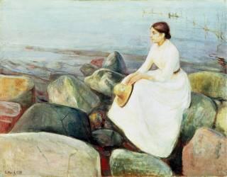 Inger on the Beach (Edvard Munch) - Muzeo.com