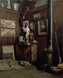 Interior of a Studio (Gustave Caillebotte) - Muzeo.com