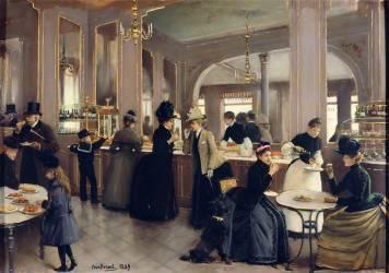 La pâtisserie Gloppe, avenue des Champs-Elysées (Jean Béraud) - Muzeo.com