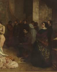L'Atelier du peintre. Allégorie réelle (Gustave Courbet) - Muzeo.com