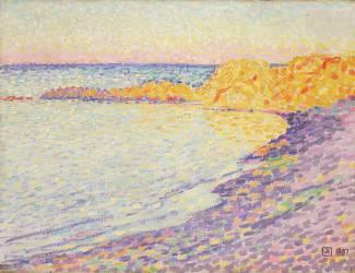 Little Beach, Saint-Tropez (Theo van Rysselberghe) - Muzeo.com