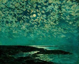 Moonlight, Isle of Shoals (Hassam Childe) - Muzeo.com