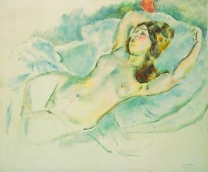 Nude Woman Reclining (Pascin Jules) - Muzeo.com