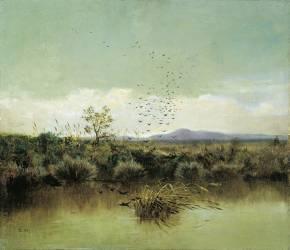On the Banks of Ofanto (Giuseppe de Nittis) - Muzeo.com