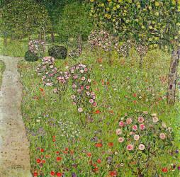 Orchard with roses (Gustav Klimt) - Muzeo.com