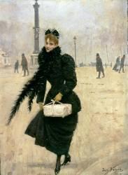Parisienne, place de la Concorde (Jean Béraud) - Muzeo.com