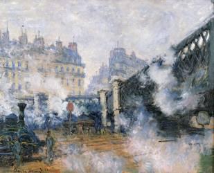 Pont de l'Europe, Gare Saint-lazare (Claude Monet) - Muzeo.com