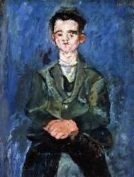 Portrait of a boy in blue (Chaïm Soutine) - Muzeo.com