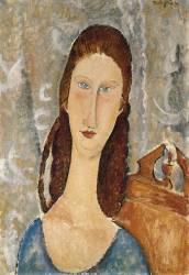 Portrait of Jeanne Hebuterne (Modigliani Amedeo) - Muzeo.com