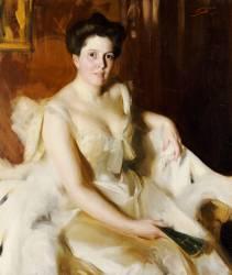 Portrait of Mrs de Ver Warner (Zorn Anders Leonard) - Muzeo.com