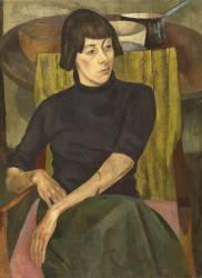 Portrait of the writer and artist Nina Hamnett (Roger Fry) - Muzeo.com