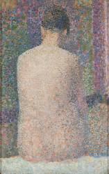 Poseuse de dos (Georges Seurat) - Muzeo.com