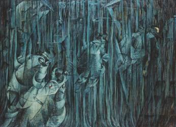 State of Mind : those who stay (Stati d'Animo I, 3 : quelli che restano) (Umberto Boccioni) - Muzeo.com