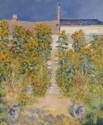 The Artist's Garden at Vetheuil (Monet Claude) - Muzeo.com