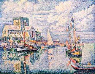 The Port of Barfleur (Paul Signac) - Muzeo.com
