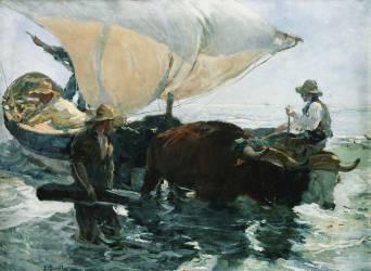The Return from Fishing (Sorolla y Bastida Joaquin) - Muzeo.com