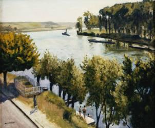 The Seine at the Frette Montigny (Albert Marquet) - Muzeo.com