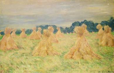 The Small Haystacks (Monet Claude) - Muzeo.com