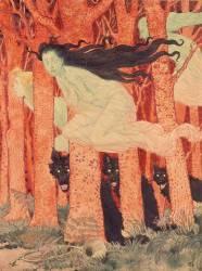 Trois femmes et trois loups (Eugène Grasset) - Muzeo.com