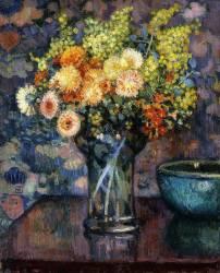 Vase of Flowers (Theo van Rysselberghe) - Muzeo.com