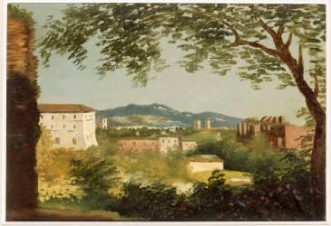 A la villa Farnèse (Valenciennes Pierre Henri de) - Muzeo.com