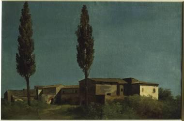 A la villa Farnèse : les deux peupliers (Valenciennes Pierre Henri de) - Muzeo.com