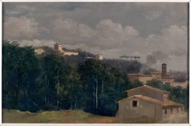 A la villa Farnèse : les maisons parmi les arbres (Valenciennes Pierre Henri de) - Muzeo.com