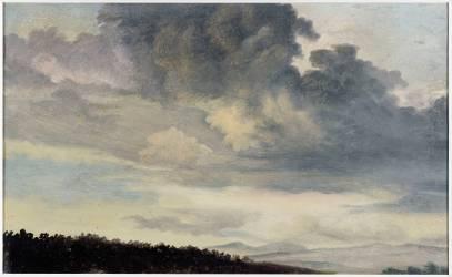 A Rome : étude de ciel chargé de Nuages (Valenciennes Pierre Henri de) - Muzeo.com