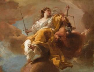 Allégorie de la Justice (Gandolfi Gaetano) - Muzeo.com