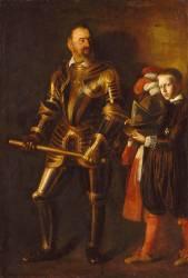 Alof de Wignacourt (1547-1622), Grand maître de l'ordre de Malte de 1601 à 1622, et son page (Le Caravage (dit), Merisi da...) - Muzeo.com