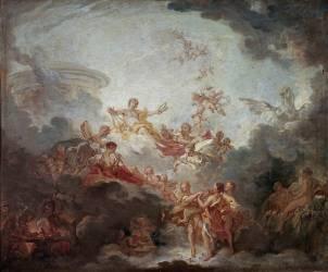 Apollon couronnant les arts (Boucher François) - Muzeo.com