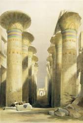Architecture et art de l'antiquite : Ruines du Grand Temple de Karnak, site de la ville de Thebes, Egypte antique. (David Roberts) - Muzeo.com
