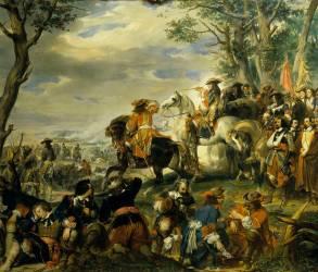 Bataille de La Marsaille remportée par le maréchal de Catinat, le 4 octobre 1693 (Devéria Eugène) - Muzeo.com