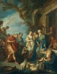 Bethuel accueillant le serviteur d'Abraham (Boucher François) - Muzeo.com