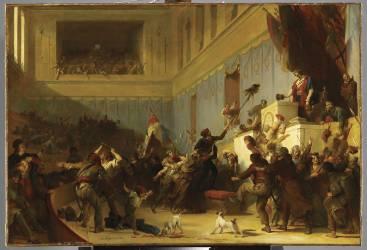 Boissy d'Anglas saluant la tête du député Ferraud (Fragonard Alexandre-Evariste) - Muzeo.com