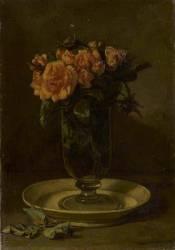 Bouquet de roses dans un verre (Couture Thomas) - Muzeo.com