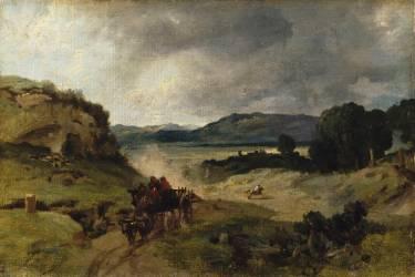 Campagne de Rome dit autrefois la Cervara (Corot Jean-Baptiste Camille) - Muzeo.com