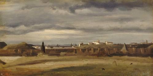 Campagne romaine. Le Monte Testaccio. (Corot Jean-Baptiste Camille) - Muzeo.com