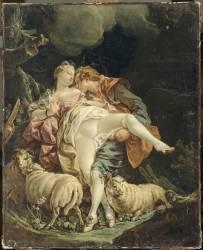 Couple d'amoureux (anonyme) - Muzeo.com