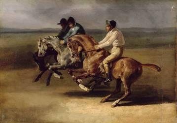 Course de chevaux montés (Géricault Théodore) - Muzeo.com
